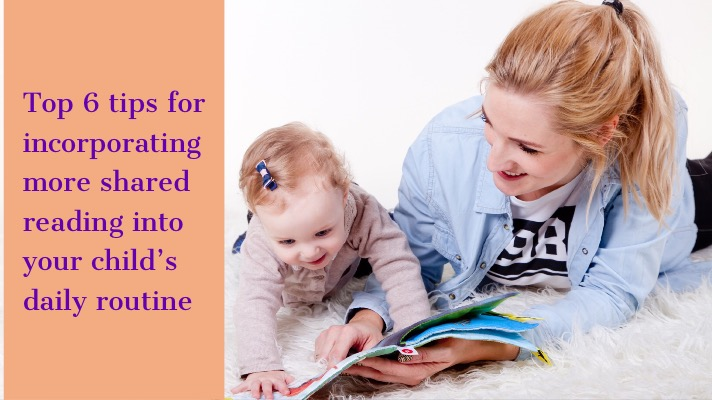 A woman and her daughter share a picture book. The article title is overlaid across the image