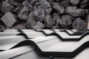 Coal and roofing tiles