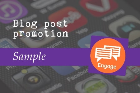 Blog post promotion sample