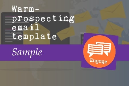 Warm prospecting email template sample