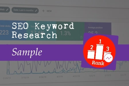 SEO Keyword research sample