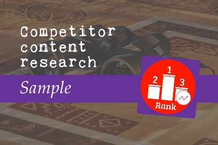 Competitor content research sample