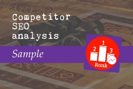 Competitor SEO analysis sample