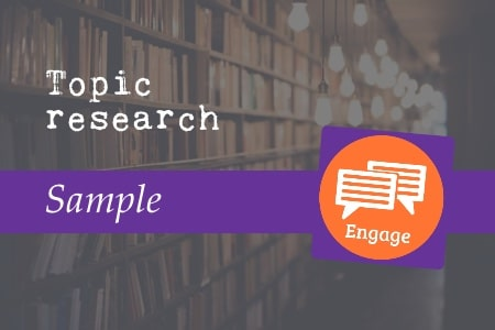 Topic research sample
