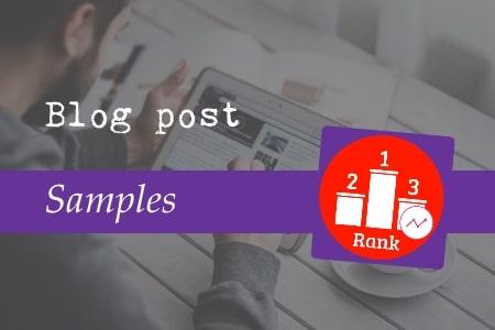 Blog post samples