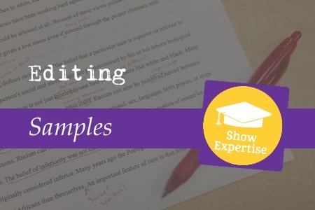 Editing samples