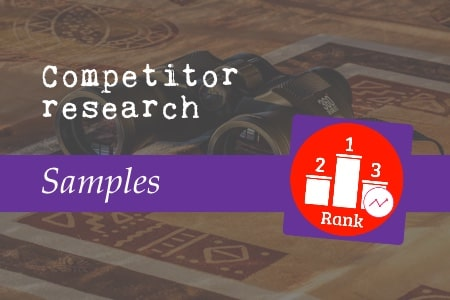 Competitor research samples