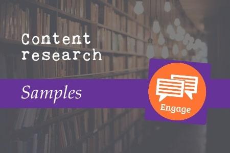 Content research samples