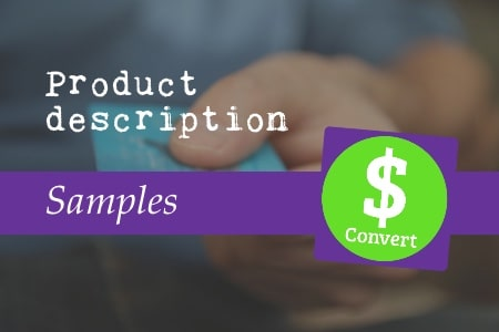 Product description samples