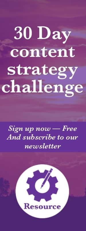 30-day content strategy challenge. Sign up now for free and subscribe to the K. M. Wade newsletter