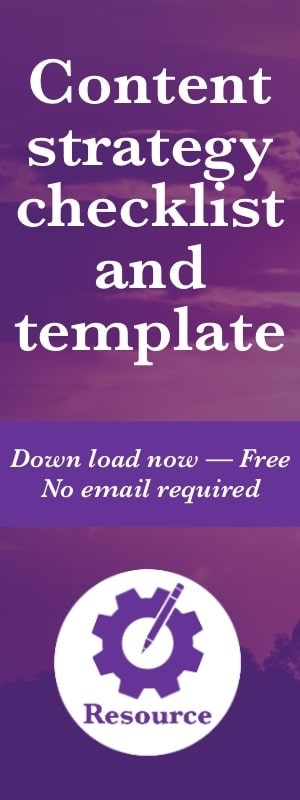 Free content strategy template and checklists. Download now for free, no email required