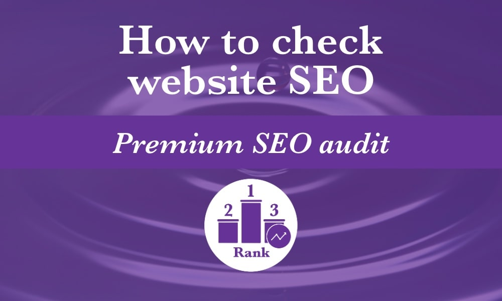 How to check your website's SEO with a premium SEO audit so you get the best search rankings for your goals and budget