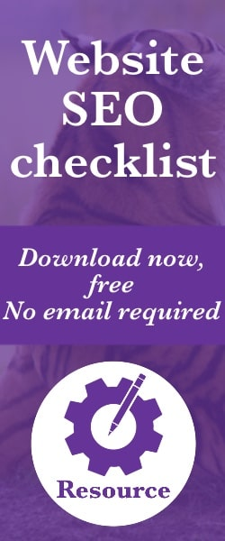 Click here to download a free website SEO checklist — we won't even ask for your email