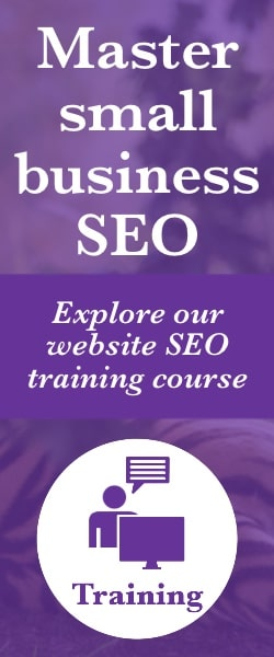Click here to learn about our website SEO training course