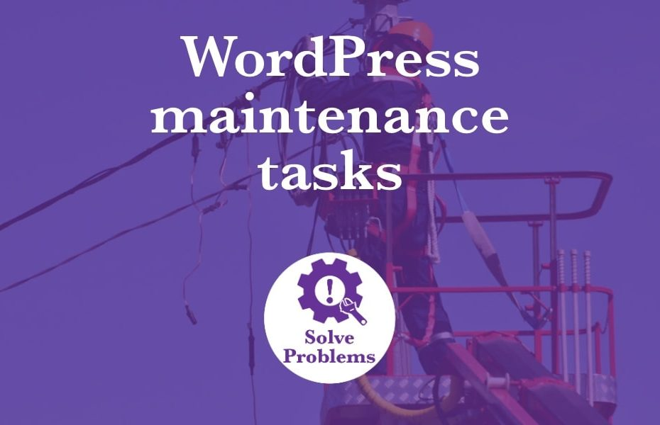 WordPress maintenance tasks to keep your website in tip-top shape with an infographic