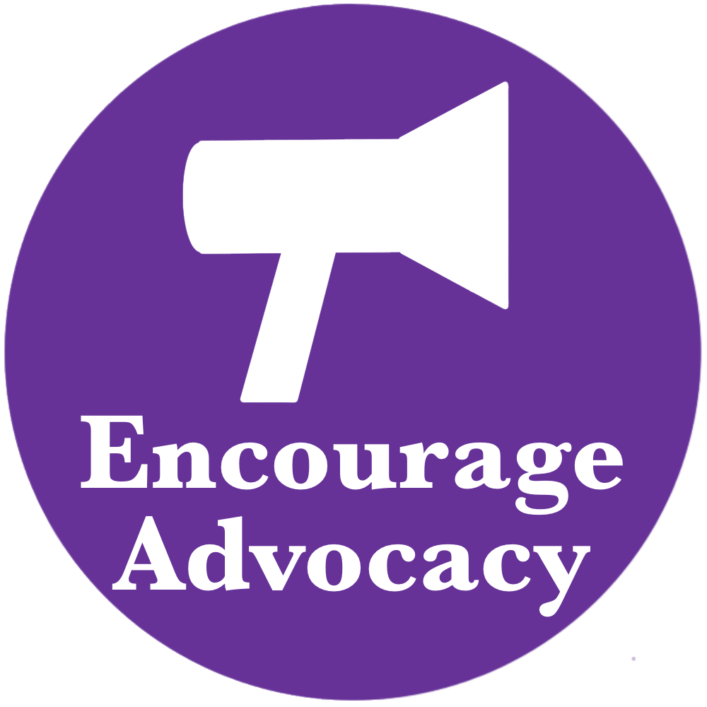 SEO Canberra, KMWade encourage advocacy icon white on purple