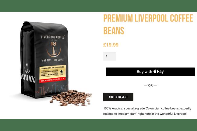 Liverpool coffee premium coffee beans platinum (premium) product description